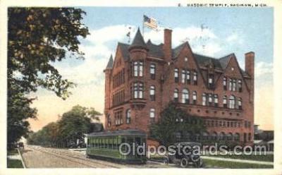 fra400047 - Saginaw, Mich. USA Mason, Mason's Fraternal Organization, Postcard Post Card