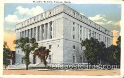 fra400048 - Topeka, Kansan, USA Mason, Mason's Fraternal Organization, Postcard Post Card