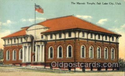 fra400056 - Salt lake City, Utah USA Mason, Mason's Fraternal Organization, Postcard Post Card