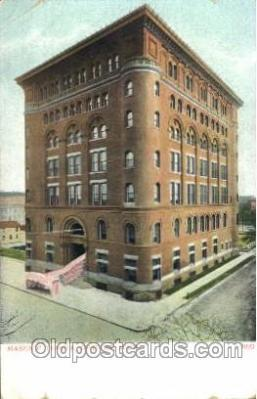 fra400064 - Detroit, Michigan Mason, Mason's Fraternal Organization, Postcard Post Card