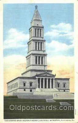 fra400069 - The George Washington Memorial Mason, Mason's Fraternal Organization, Postcard Post Card