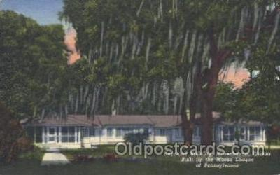 fra500001 - Moosehaven, Florida, Built By the Moose Lodges of Pennsylvaina, USA Fraternal Moose Club, Postcard Post Card