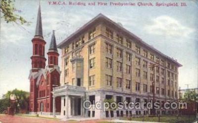 fra800001 - Springfield, ILL. USA YMCA Fraternal Postcard Post Card