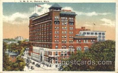 fra800007 - Detroit, Michigan USA YMCA Fraternal Postcard Post Card