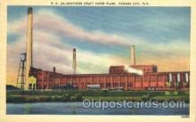 fac001033 - Kraft paper plant, Panama City, Florida, California, Ca, USA Factory Postcard Post Card