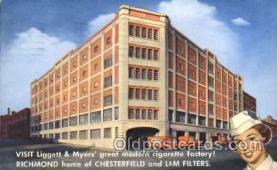 fac001038 - Richmond, Va, Virginia, USA Cigarette Factory Postcard Post Card