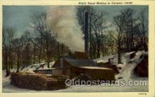 fac001081 - Maple Sugar Making Vermont, USA Postcard Post Cards Old Vintage Antique