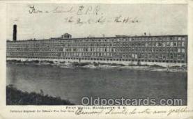 fac001089 - Print Works Manchester, NH, USA Postcard Post Cards Old Vintage Antique