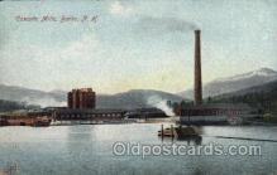 fac001091 - Cascade Mills Berlin, NH, USA Postcard Post Cards Old Vintage Antique