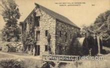 fac001102 - Old Grist Mill, Wayside Inn Sudbury, MA, USA Postcard Post Cards Old Vintage Antique