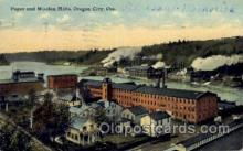 fac001125 - Paper & Wollen Mills Oregon City, OR, USA Postcard Post Cards Old Vintage Antique