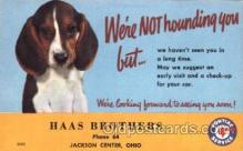 fac002015 - Haas Brothers Jackson Center, OH, USA Postcard Post Cards Old Vintage Antique