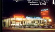 fac002028 - Mandia Motors Inc, Car Dealer Manhasset, NY, USA Postcard Post Cards Old Vintage Antique