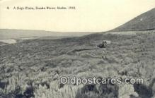fam001035 - Sage plain Snake River, ID, USA Postcard Post Cards Old Vintage Antique