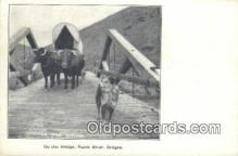 fam001038 - On the Bridge Burnt River, OR, USA Postcard Post Cards Old Vintage Antique