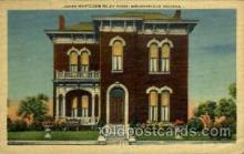 fam100007 - James W. Riley home, Indiana, USA Famous People Postcard Post Card