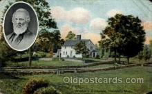 fam100009 - Whittier's Birthplace, Haverhill, Mass., Massachusetts, USA Famous People Postcard Post Card