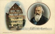 fam100015 - J.Brahms 's birth place, T.Presser Co., Phil'a Famous People Postcard Post Card