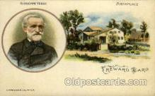fam100017 - Giuseppe Verdi, Birthplace Famous People Postcard Post Card