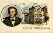 fam100018 - Felix Mendelsson-bartholdy, birthplace Famous People Postcard Post Card