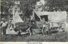 fam100023 - Ezra Meeker, The ox and cow team Famous People Postcard Post Card