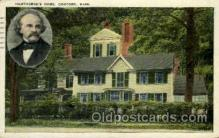fam100028 - Hawthorne's Home, Concord, Mass., Massachusettes, USA Famous People Postcard Post Card