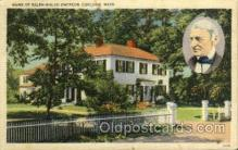 fam100047 - Home, Ralph Ealdo Emerson, Concord, Mass., Massachusettes, USA Famous People Postcard Post Card