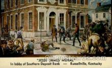 fam100048 - Jesse James Mural, Russellville, Kentucky, USA Famous People Postcard Post Card