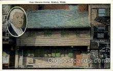 fam100059 - Paul Revere home, Boston, Mass, Massachusettes, USA Famous People Postcard Post Card