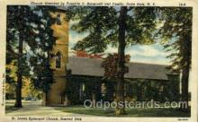 fam100074 - St.James Episcopal Church, Hyde Opark NY Famous People Postcard Post Card