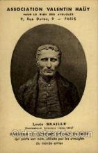 fam100079 - Louis Braille Professeur Aveugle Famous People Postcard Post Card