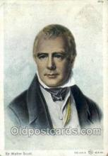 fam100195 - Sir Walter Scott Famous People Old Vintage Antique,  Postcard Post Card