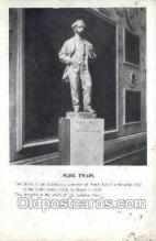 fam100215 - Mark Twian statue Famous People Old Vintage Antique,  Postcard Post Card