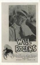 fam100250 - Will Rogers Famous People Old Vintage Antique,  Postcard Post Card