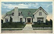 fam100301 - Charles Ray's Home Famous People Old Vintage Antique Postcard Post Card