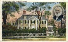 fam100302 - Longfellow's Home Famous People Old Vintage Antique Postcard Post Card