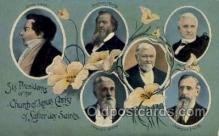 fam100305 - Six Presidents of the Church of Jesus Christ of Latter Day Saint Famous People Old Vintage Antique Postcard Post Card