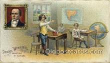 fam100306 - Daniel Webster, Debating at School Famous People Old Vintage Antique Postcard Post Card