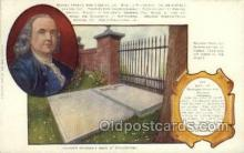 fam100321 - Benjamin Franklin Famous People Old Vintage Antique Postcard Post Card