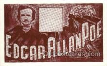 fam100342 - Edgar Allan Poe Famous People Old Vintage Antique Postcard Post Card