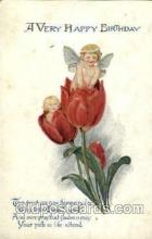 fan001312 - A Very Happy Birthday, Fantasy Postcard Post Card