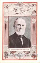 fap001008 - John Greenleaf Whittier Famous American Series, Postcard Post Card