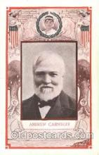 fap001010 - Andrew Carnegie Famous American Series, Postcard Post Card