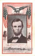 fap001015 - Abraham Lincoln Famous American Series, Postcard Post Card