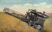 far001010 - Harvesting with a Caterpiller, Farming Postcard Post Card