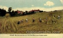 far001038 - Finland Farming Postcard Post Card