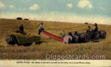 far001057 - Advertising, Western Moline Plow Company, Wheat Harvesting Farming Postcard Post Card