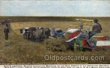 far001062 - Wheat Harvesting, South America Farming Postcard Post Card