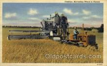 far001069 - Harvesting Wheat in Kansas Farming Postcard Post Card