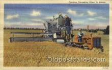 far001079 - Harvesting Wheat in Kansas Farming Postcard Post Card